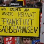 18 demo sachsenh trauert plakat