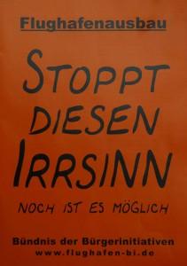 Stoppt Irrsinn_DemoPlakat